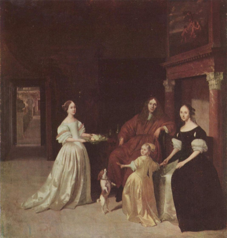 Якоб Охтерфельт. Портрет голландской семьи