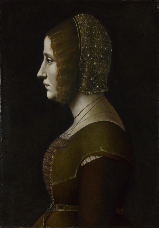 Giovanni Ambrogio de Predis. Portrait of woman in profile