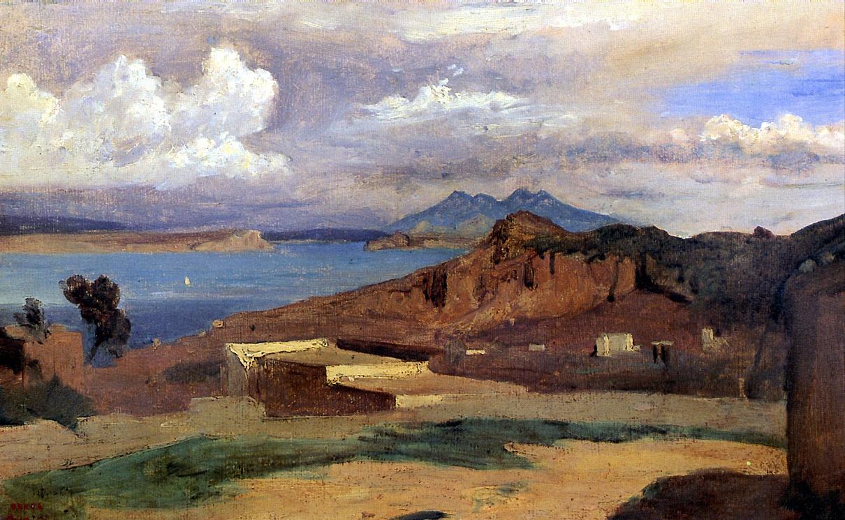 Камиль Коро. Вид склонов горы Эпомео