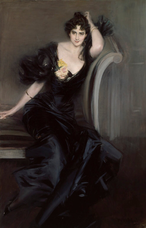 Giovanni Boldini. Portrait of Lady Colin Campbell, nee Gertrude Elizabeth Blat