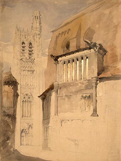 Башня собора в Сансе