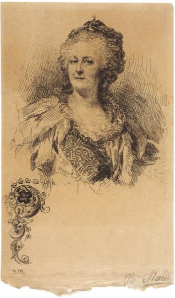 Vasily Vasilyevich Mate. Empress Catherine. sheet