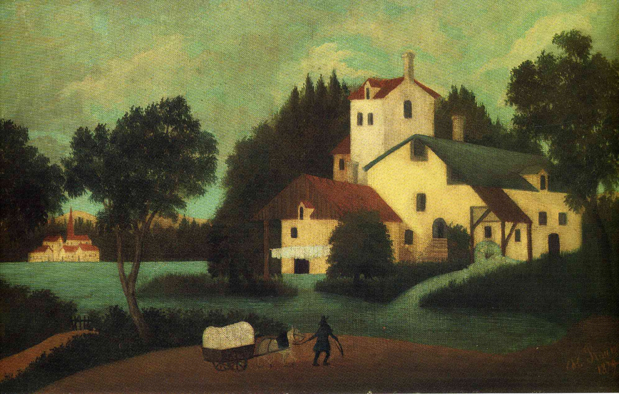 Henri Rousseau. The van in front of the mill
