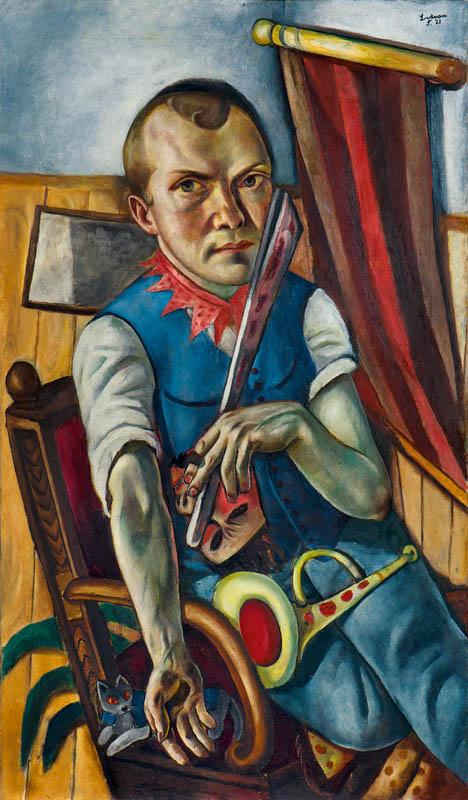 Max Beckmann. Self-portrait as a clown