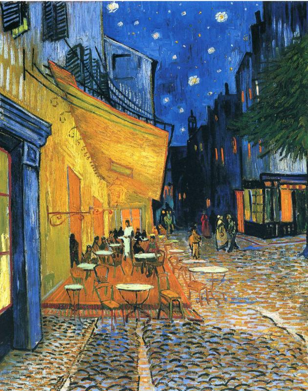 Винсент Ван Гог. Ночная терраса кафе в Арле