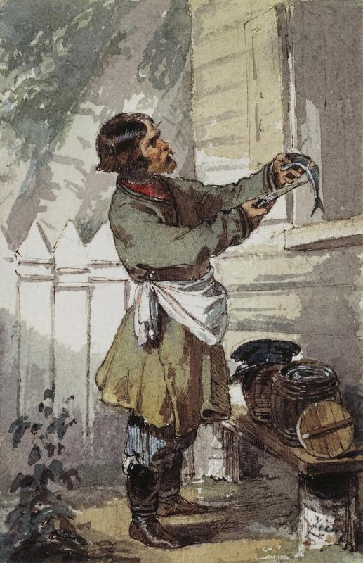 Михай Зичи. Продавец селедки
