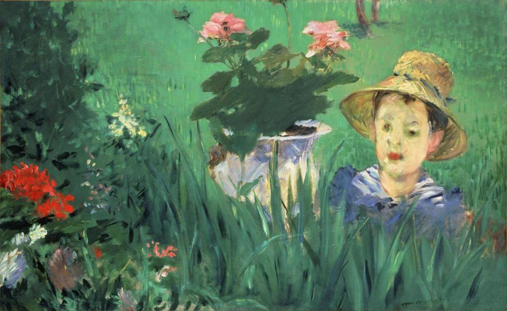 Эдуар Мане. Мальчик среди цветов