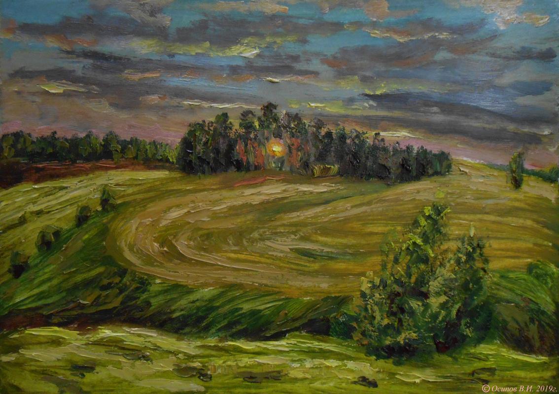 Владимир Иванович Осипов. Mowed Field