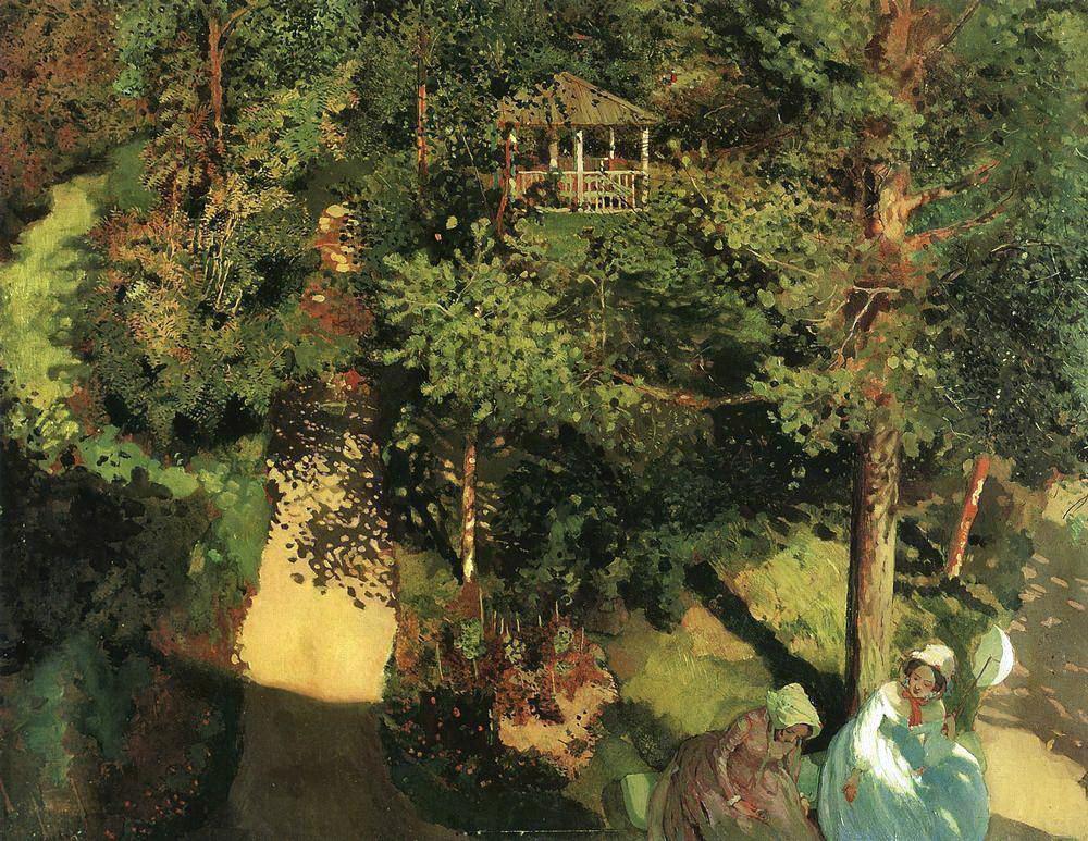 Константин Андреевич Сомов. Деревья