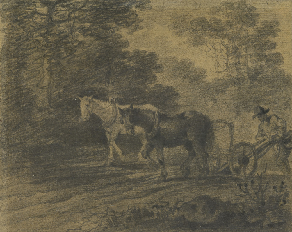 Thomas Gainsborough. The farmer behind the plow
