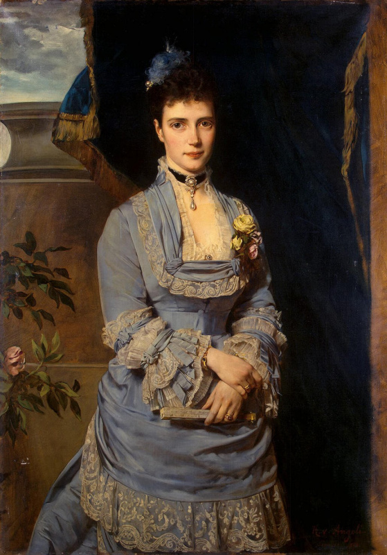 Heinrich von Angeli. Portrait of Grand Duchess Maria Fiodorovna