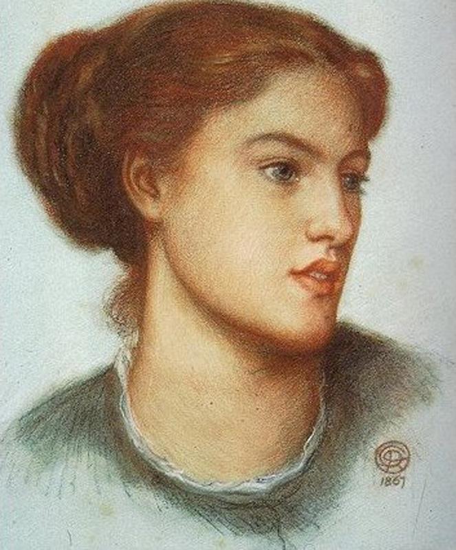 Dante Gabriel Rossetti. Portrait Of Ellen Smith