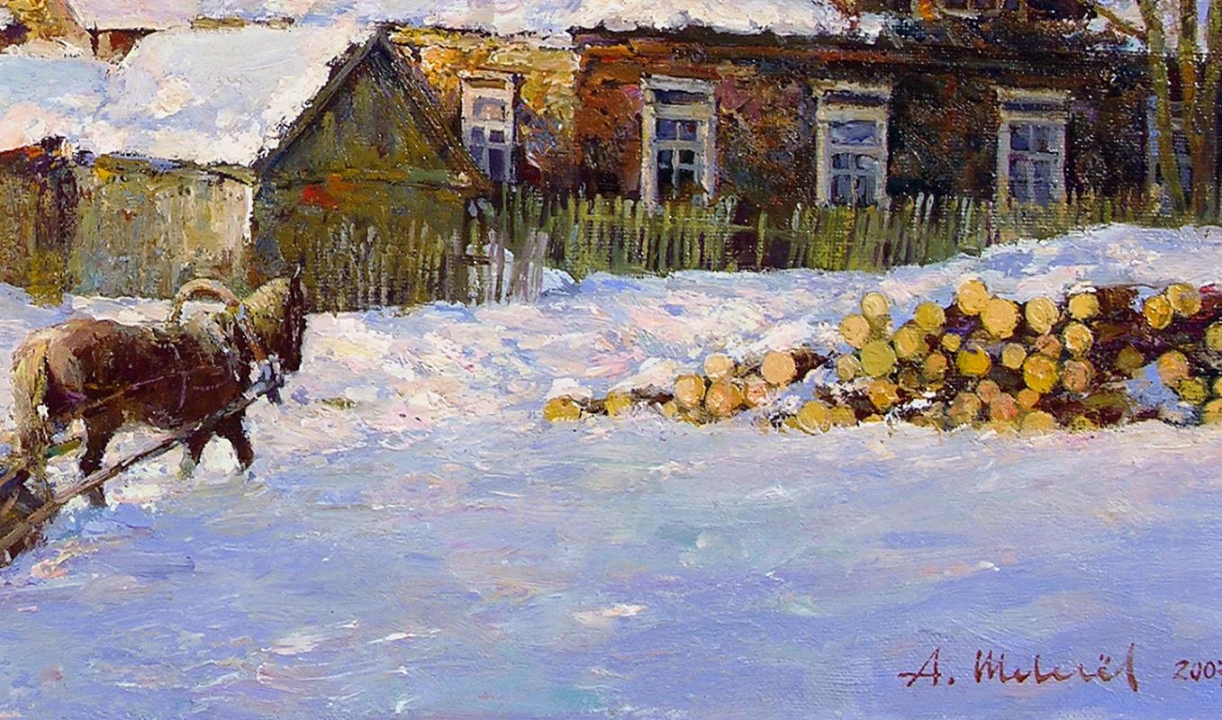 Winter evening. oil on canvas 40 x 70 cm. 2007