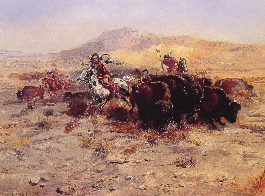 Charles Marion Russell. Buffalo Hunt