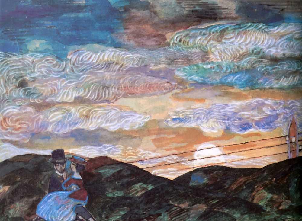 Сергей Юрьевич Судейкин. «Влюбленные при луне» 1910