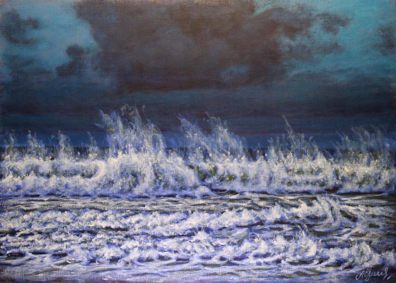 Valery Levchenko. № 618  Морской пейзаж.