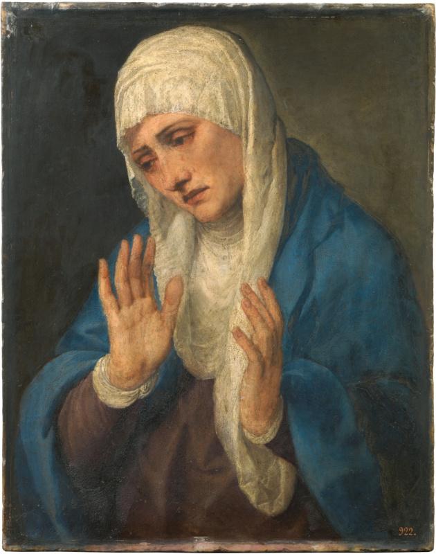Тициан Вечеллио. Скорбящая Богоматерь (Мадонна Долороса с разведенными руками)