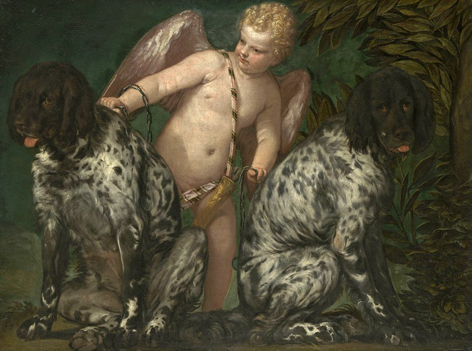 Paolo Veronese. Cupid with Two Dogs