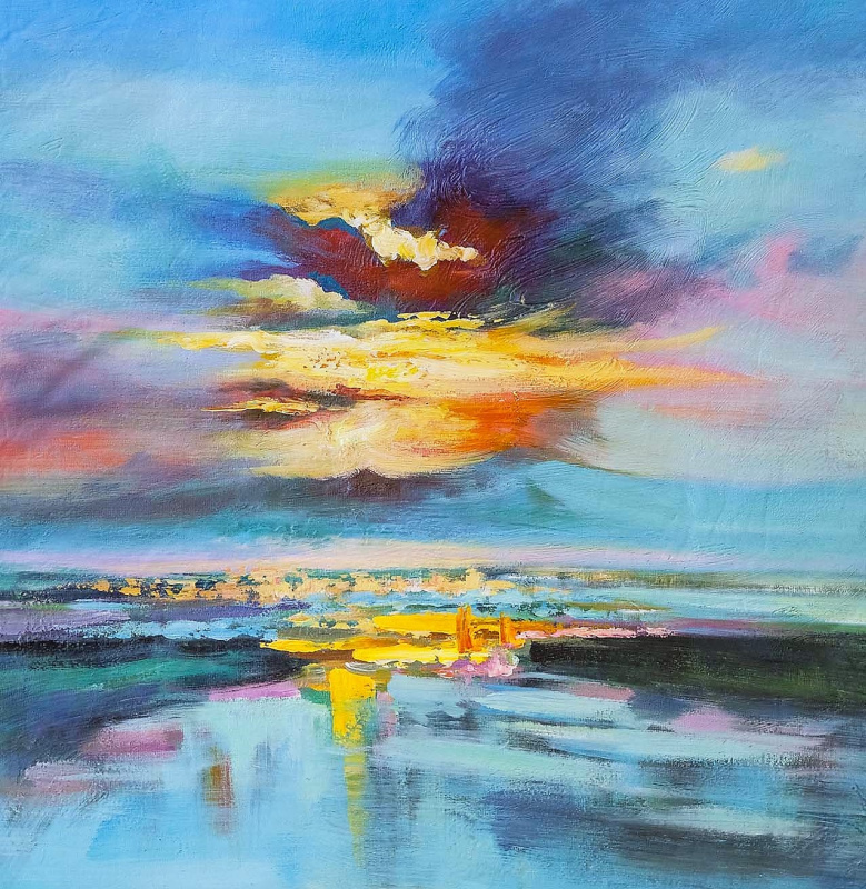 Leah Gomesh. Sunset over the bay N1