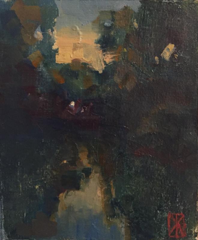 Антон Жмурко. Река окружённая лесом