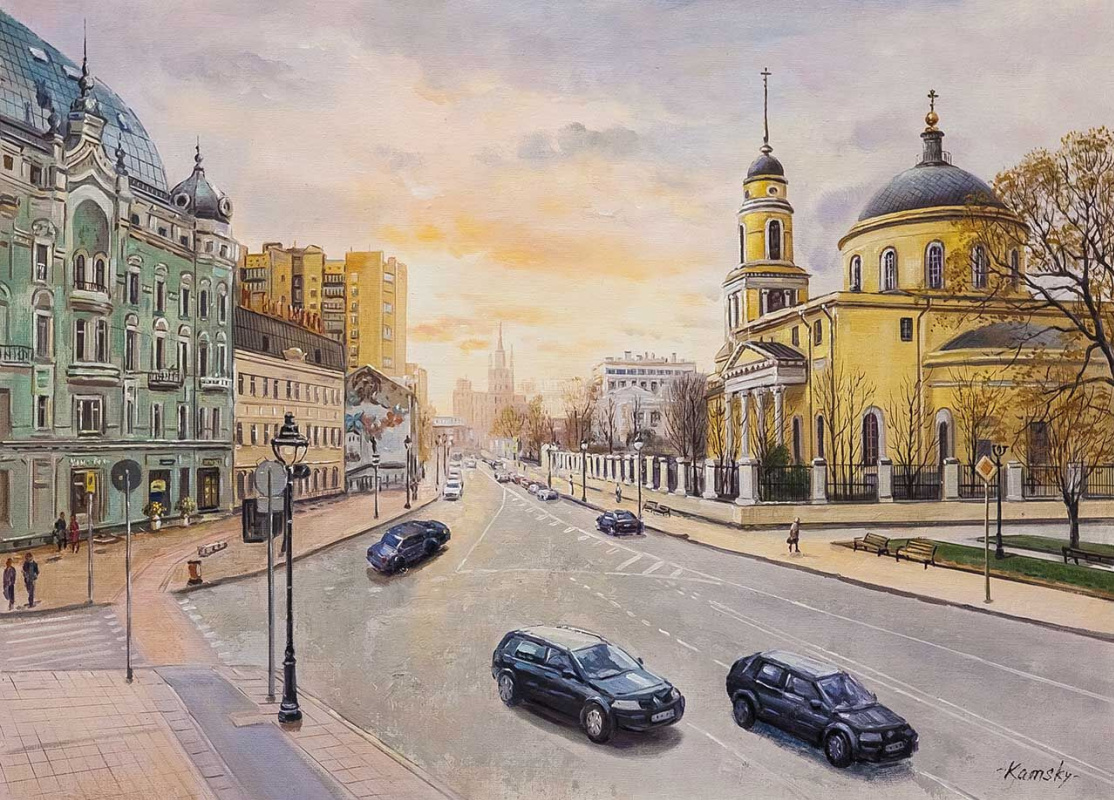 Savely Kamsky. Walks in Moscow. View of the Church of the Ascension at the Nikitsky Gate