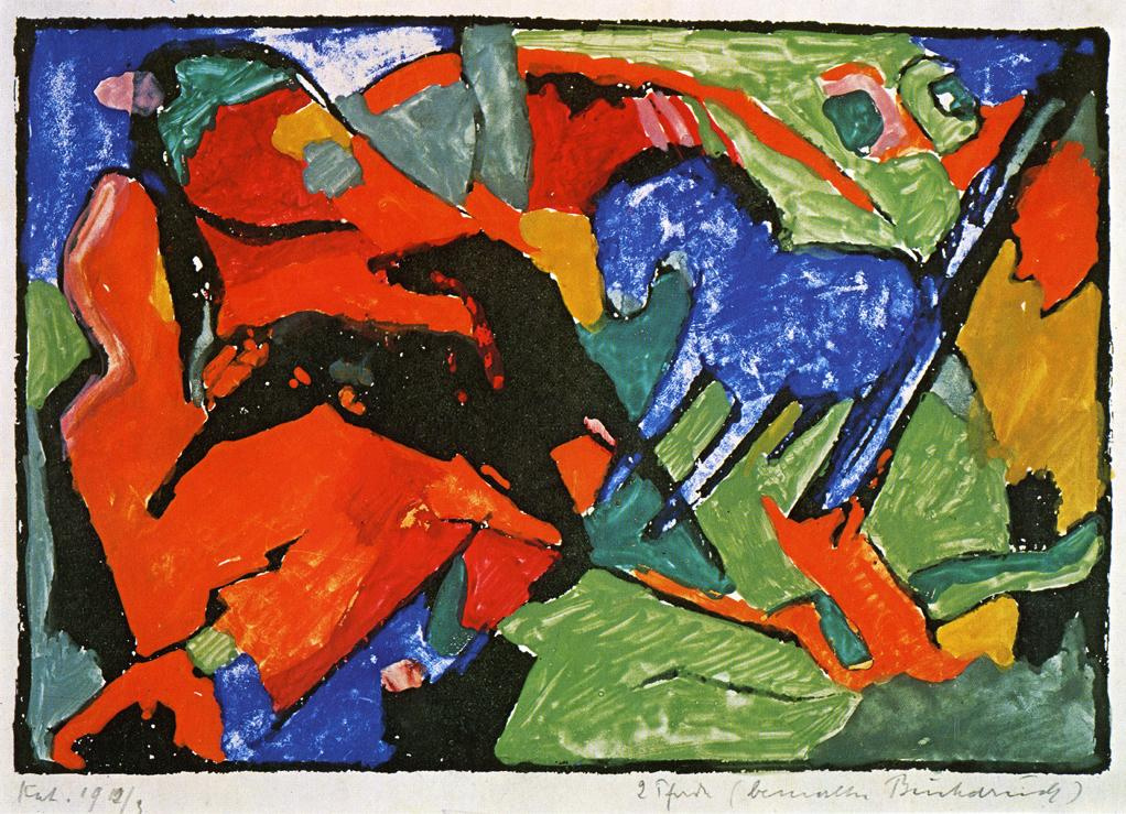 Franz Mark. Two horses