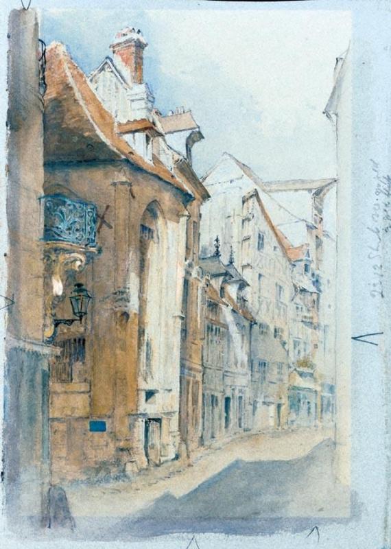Джон Рёскин. Улица в Аббевилле, Северная Франция