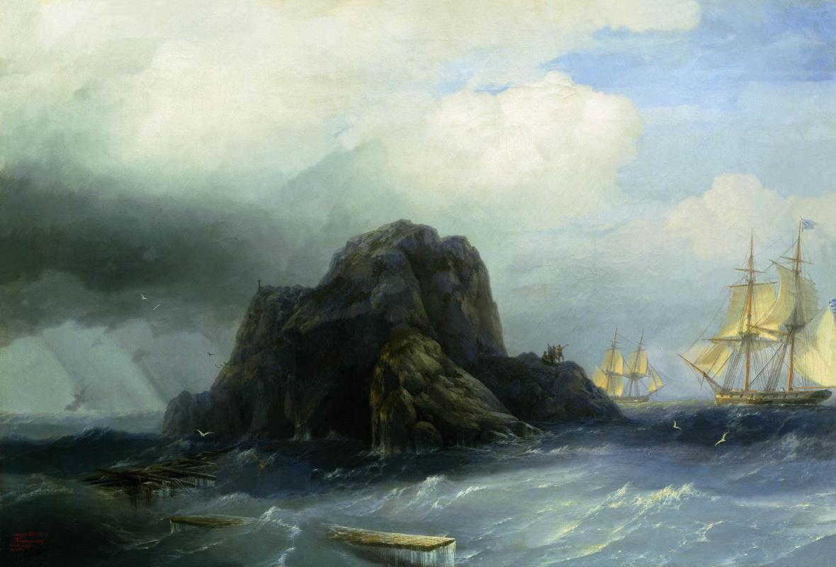 Ivan Aivazovsky. Rocky island