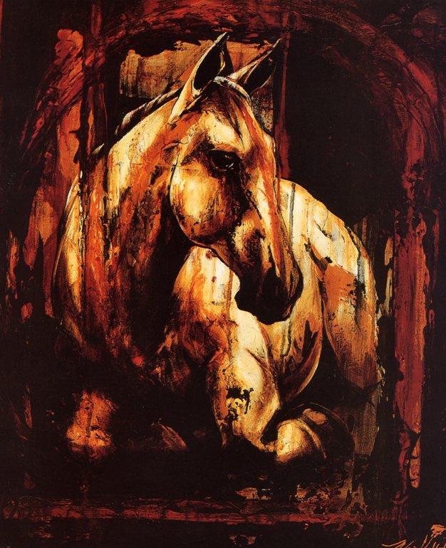 Мари-Андре Леблон. Лошадь