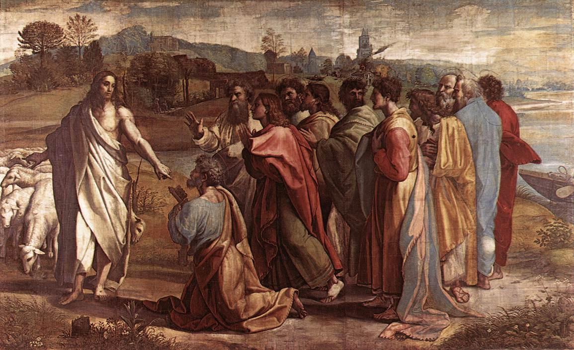 Рафаэль Санти. Христос вручает Св. Петру ключи от рая
