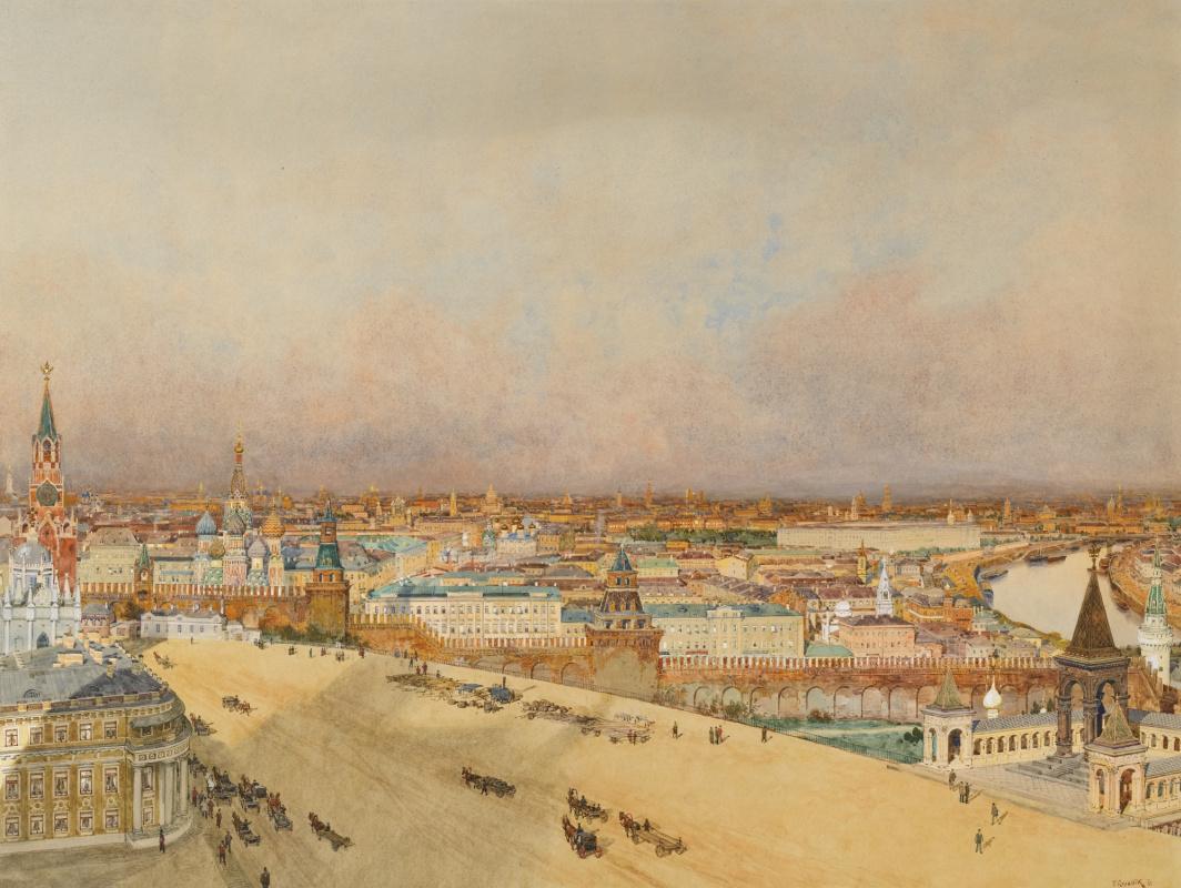 Franz Copallicus Austria 1860 - 1931. View of Moscow.