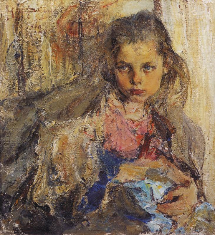 Nikolay Feshin. Portrait Of Katya