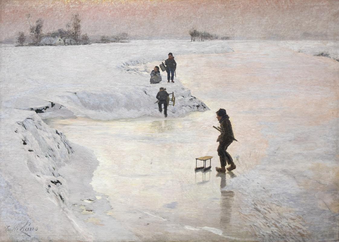 Emil Klaus. On the rink