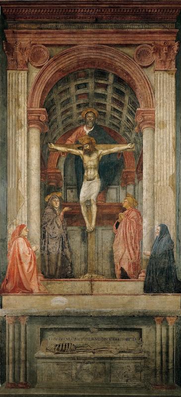 Tommaso Masaccio. The Holy Trinity
