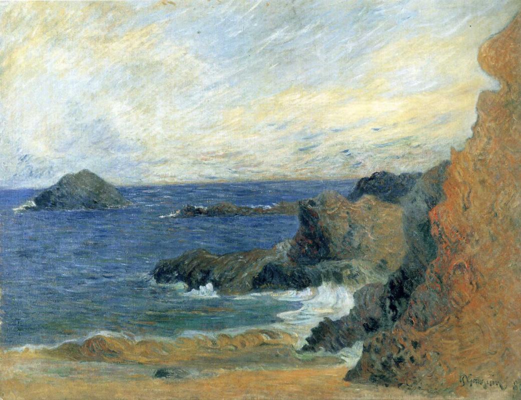 Поль Гоген. Прибрежный пейзаж