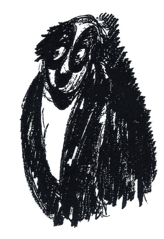 Персонаж, растерянно глядящий в сторону