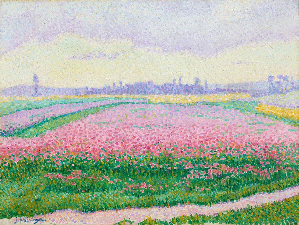 Жан Метценже. Цветущее поле недалеко от Кан (Нормандия)