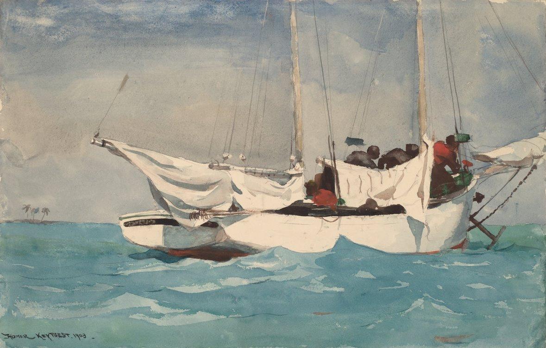 Winslow Homer. Key West. Raised anchor
