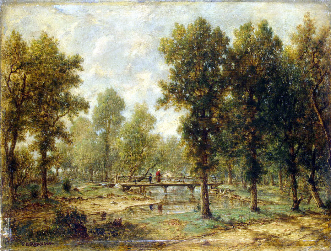 Theodore Rousseau. Landscape with bridge
