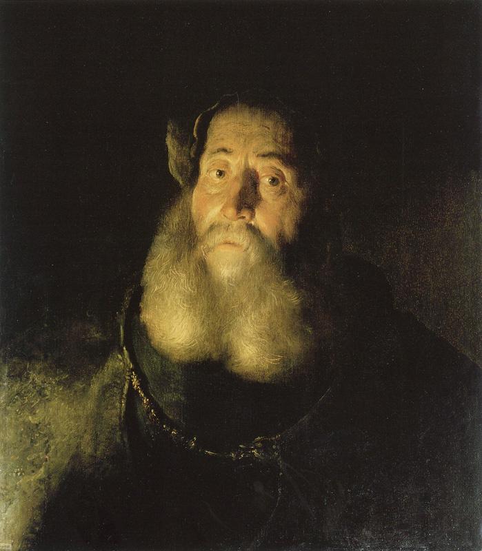 Ян Ливенс. Портрет бородатого мужчины в плаще и берете