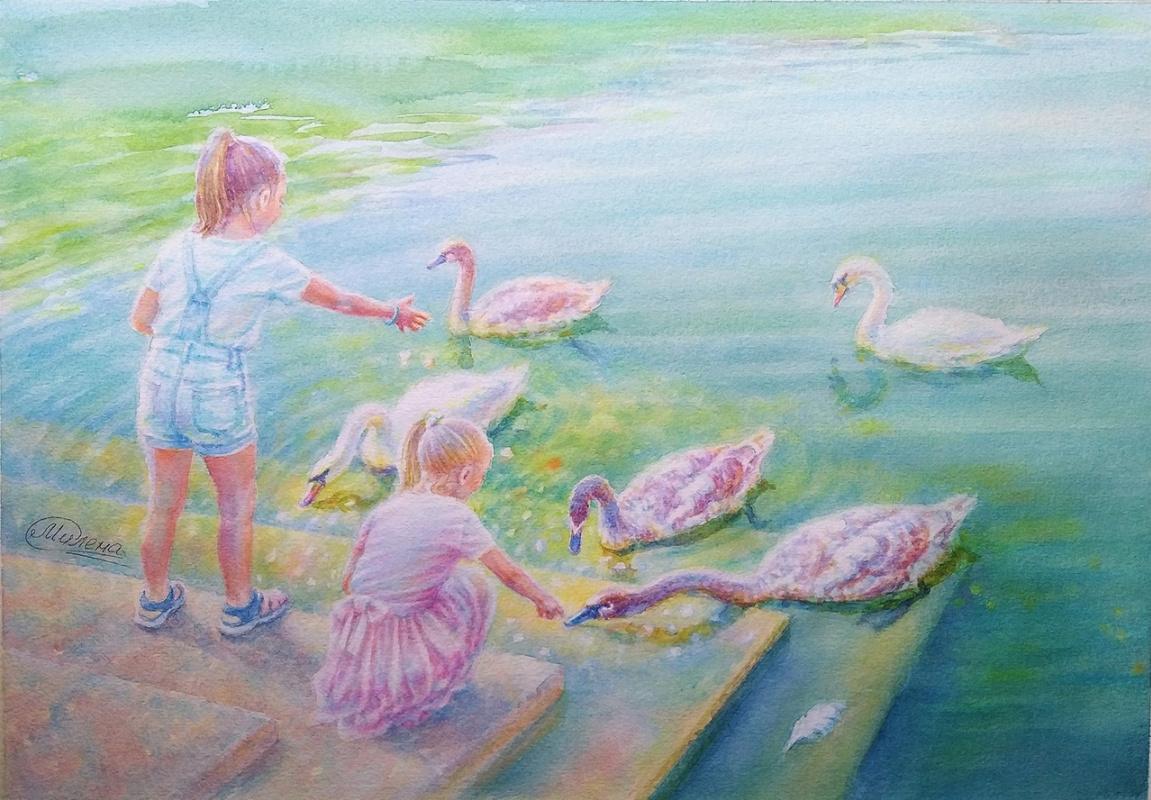 "Mielena. ""Girls and Swans"""