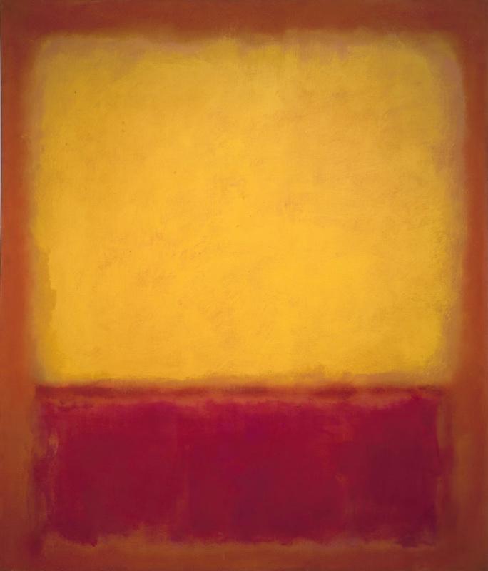 Rothko Mark. Yellow over purple