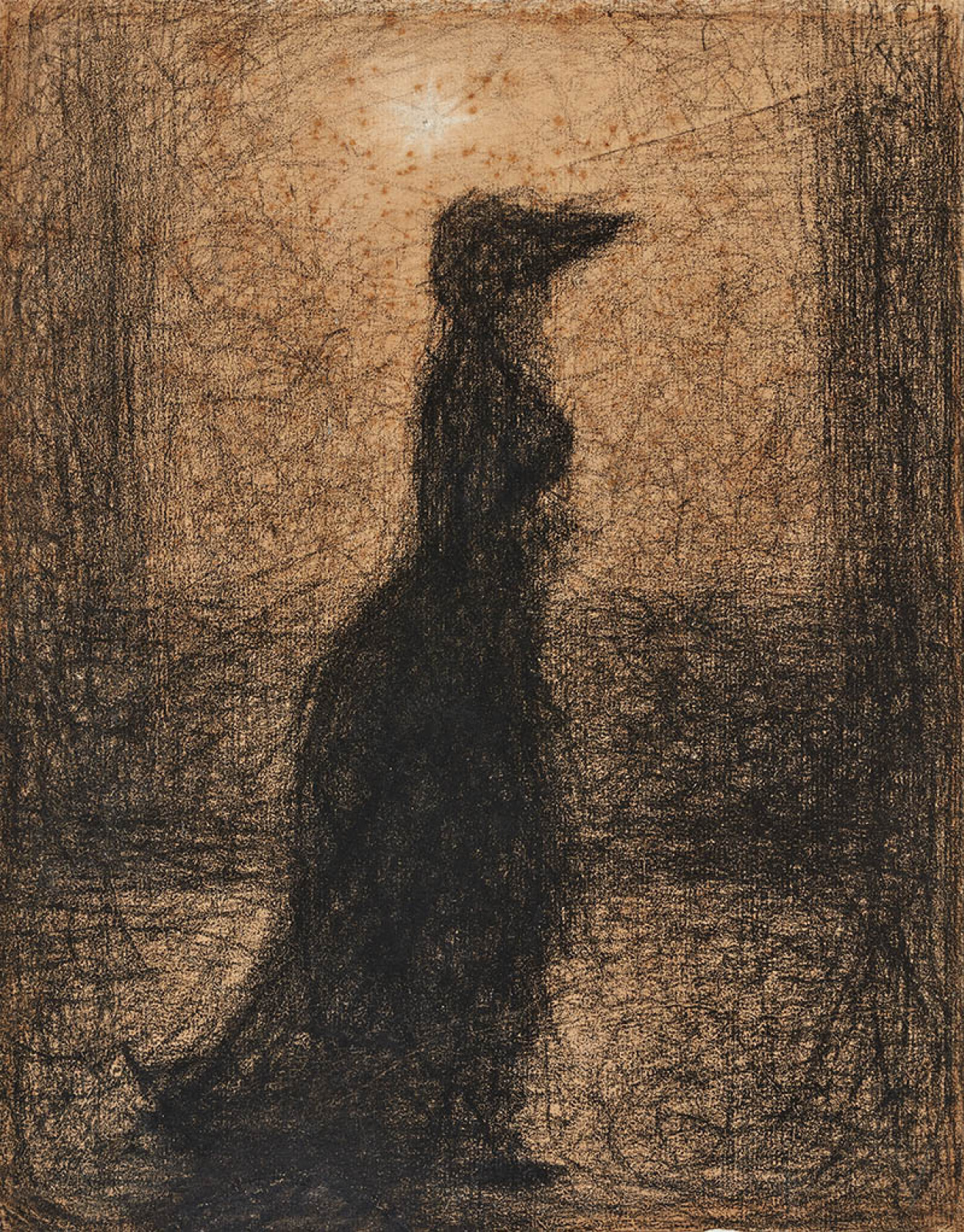 Georges Seurat. Strolling Woman