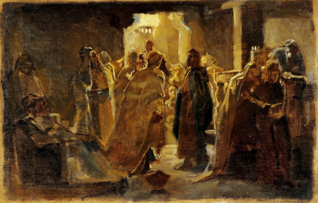 Николай Николаевич Ге. Христос в синагоге