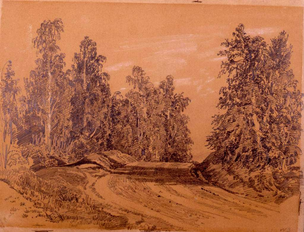 Ivan Shishkin. Road in the forest