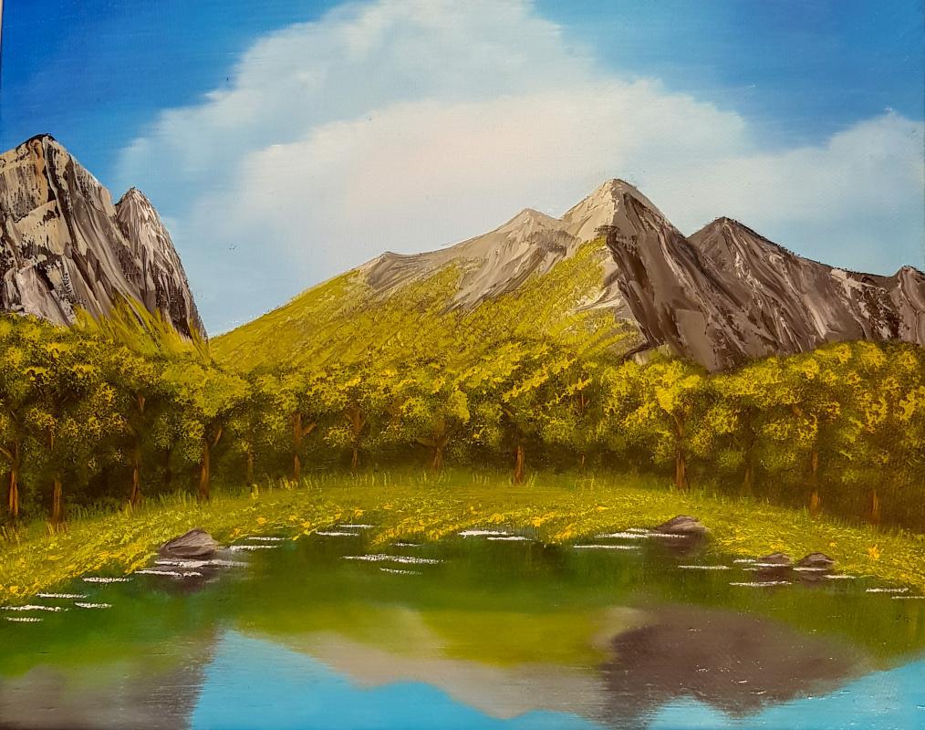 Alexey Igorevich Budanov. Lake in the mountains
