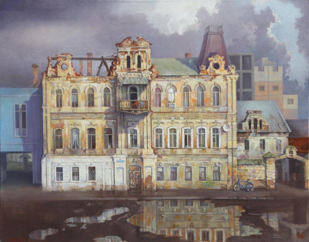 Сергей Геннадьевич Дьяков. Дом на Набережной.   х/м 75 х 95 см.
