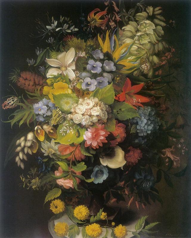 Букет цветов вазе