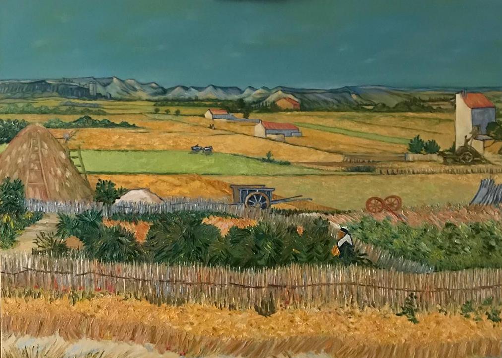 "Inga Kotlyarskaya. Free copy of ""Harvesting"" by Vincent Van Gogh"