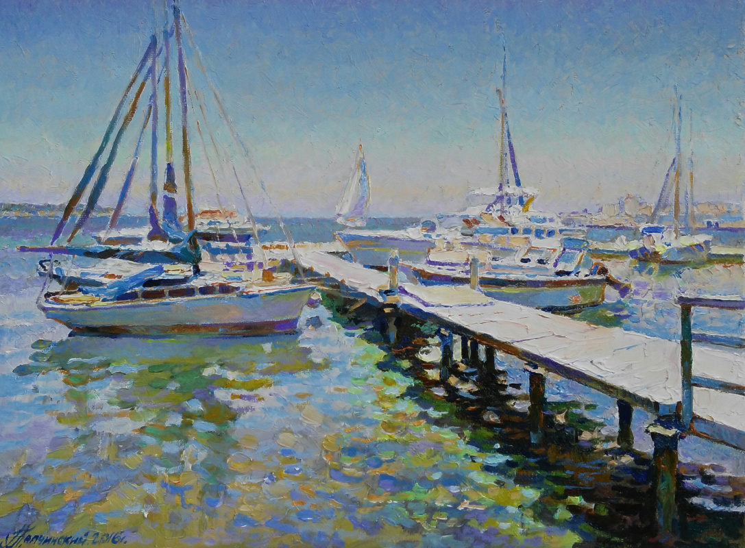 George Lapchinsky. At the marina